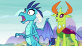 Ember and Thorax in offended shock S8E1.png