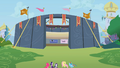 Equestria Rodeo competition stadium in Canterlot S2E14.png
