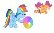 FANMADE Rainbow Dash inflating beach ball