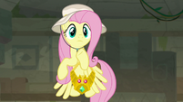 Fluttershy feeling the temple quake S9E21
