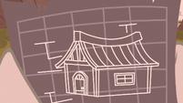 Piles McColt's shelter blueprints S5E23