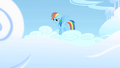 Rainbow Dash bracing herself for a rehearsal S1E16.png