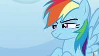 Rainbow looking annoyed at Sludge S8E24