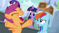 Scootaloo cheering for the Washouts S8E20