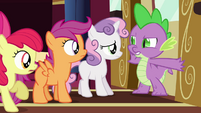 "Spike ""nopony's getting past this dragon"" S03E11"