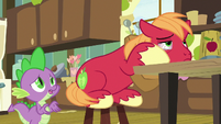 Spike trying to cheer Big Mac up S8E10