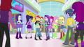 Starlight and Mane Seven surrounded by witnesses EGS3.png