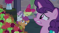 Sugar Belle and CMCs cringe at Big Mac's singing S7E8