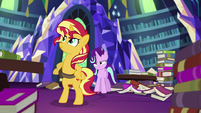 Sunset Shimmer standing on her hind hooves EGS3