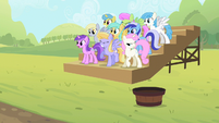 The ponies observe the competition S2E05