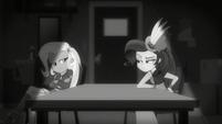 Trixie and Rarity having a silent standoff CYOE6b