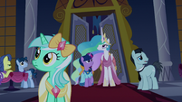 Twilight and Celestia notice the lights go out S5E7