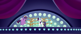 Twilight and Rarity on the orchestra stage MLPTM