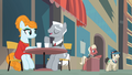 Two ponies resembling Mad Men characters talking to each other S4E08.png