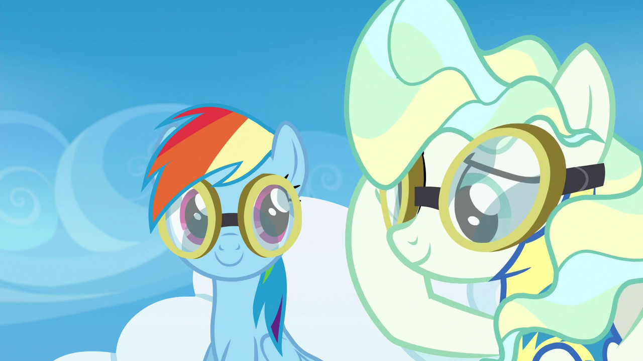 image vapor trail lowering her flight goggles s6e24 png my