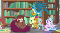 Young five laughing at Yona S8E22