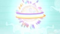 A big ball of rainbow magic rises up S4E26