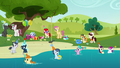 A birthday party near a pond S5E19.png