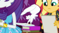 Angel Bunny bouncing off the stack of books EGDS6.png