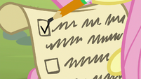Angel checks off Fluttershy's to-do list S9E18