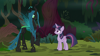 "Chrysalis ""most powerful weapon in Equestria"" S8E13"