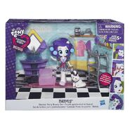 Equestria Girls Minis Rarity Dressing Room set packaging