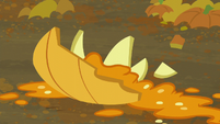 Mashed pumpkin on the ground S5E23
