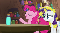 "Pinkie Pie ""cleaned off in no time!"" S7E19"
