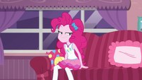 Pinkie Pie looking slyly in Lily's direction EGDS3