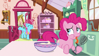 Pinkie Pie with a sore tongue S9E13