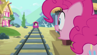 Pinkie shouting Fluttershy's name S4E11
