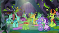 Ponies and changeling look at Changeling 3 S7E17.png