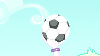 Principal Celestia catches the soccer ball SS8