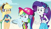Rainbow Dash holding an old horseshoe EGDS15