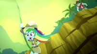 Rainbow Dash swinging from a jungle vine SS12