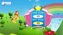 Sunset Shimmer Flying game Win MLPMobileApp