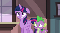 Twilight and Spike worried about their friends S6E22