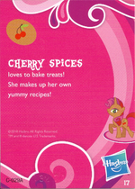 Wave 1 Cherry Spices collector card