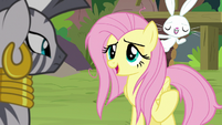 Angel making fun of Fluttershy S9E18
