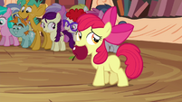 Apple Bloom with apple in her mouth S4E15