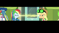 Applejack and Rainbow share an electrifying gaze EGDS4
