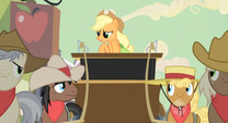 Applejack gets the heck out of Dodge S2E14