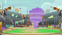 Bloofy rampaging across the stadium S9E22