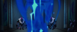 Blue potion smoke dissipating MLPTM