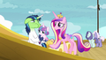 Cadance tells Shining Armor to take Flurry below deck S7E22.png