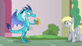 Derpy backing away from Princess Ember S7E15.png