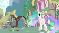 Discord bows to Princess Celestia S03E10
