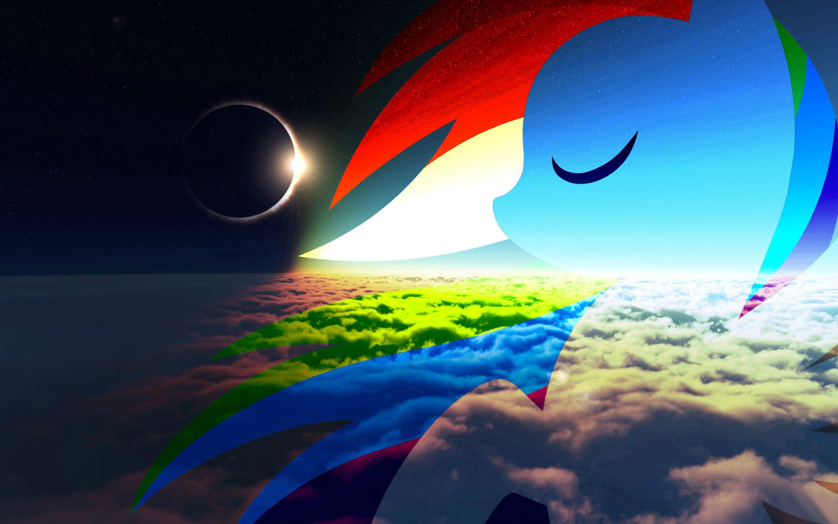 fanmade rainbow dash eclipse wallpaperjpg