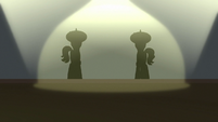 Flim and Flam's silhouettes appear S8E16