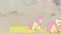 Fluttershy after pretending to be changeling S2E26